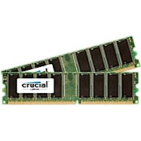 2GB DDR-333MHz Crucial CL2.5, kit 2x1GB