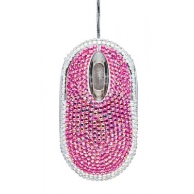 myš TRUST Bling-Bling Mouse - pink/silver
