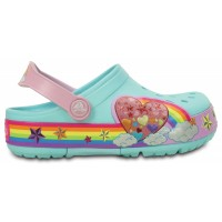 Crocs Lights Rainbow Heart Clog
