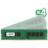 16GB DDR4 - 2400 MHz Crucial CL17 SR x8 DIMM kit, 4x4GB