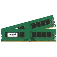 32GB DDR4 - 2400 MHz Crucial CL17 DR x8 DIMM kit, 2x16GB