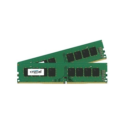 16GB DDR4 - 2133 MHz Crucial CL15 DR x8 DIMM kit, 2x8GB