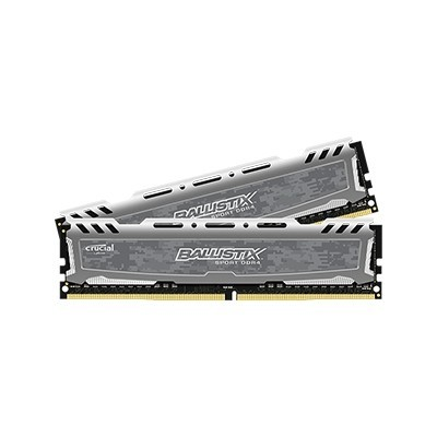 32GB kit DDR4 - 2400 MHz Crucial Ballistix Sport Grey CL16 DR x8 DIMM, 2x16GB