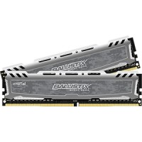 8GB kit DDR4 - 2400 MHz Crucial Ballistix Sport Grey CL16 SR x8 DIMM, 2x4GB