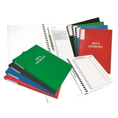 Folder for personnel documents: Warta, external ring binding spine, red