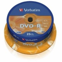 Verbatim DVD-R [ cakebox 25 | 4.7GB | 16x | matte silver ]