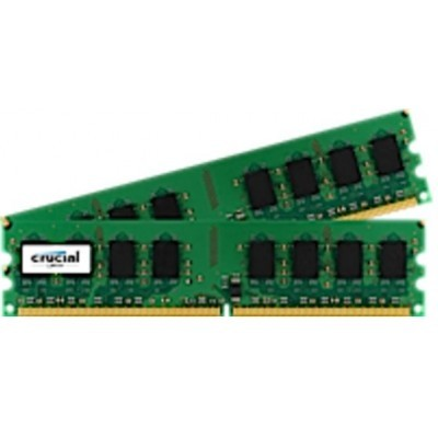 4GB DDR2-800 ECC Crucial CL5, kit 2x2GB