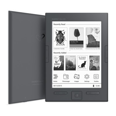 "ENERGY eReader Slim HD (6"" HD e-ink Carta 758x1024, 16 odstínů šedi, 8GB, podpora Adobe DRM)"