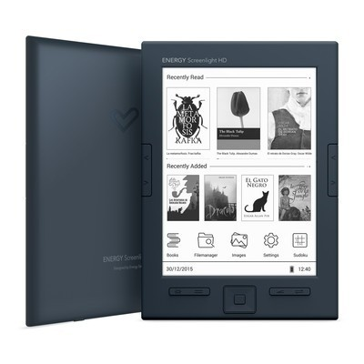"ENERGY eReader Screenlight HD (6"" HD e-ink Carta 758x1024, 16 odstínů šedi, podsvícení, 8GB, podpora Adobe DRM)"