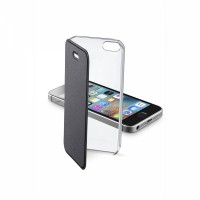 Pouzdro typu kniha CellularLine Clear Book pro Apple iPhone 5/5S/SE