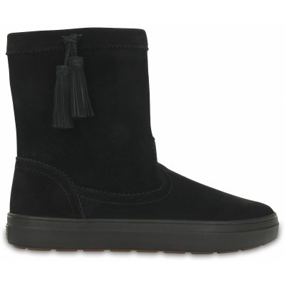 Crocs LodgePoint Suede Pull-On Boot - Black, W8 (38-39)