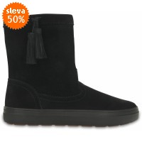 Crocs LodgePoint Suede Pull-On Boot - Black, W9 (39-40)