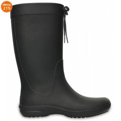 Crocs Freesail Rain Boot - Black, W8 (38-39)