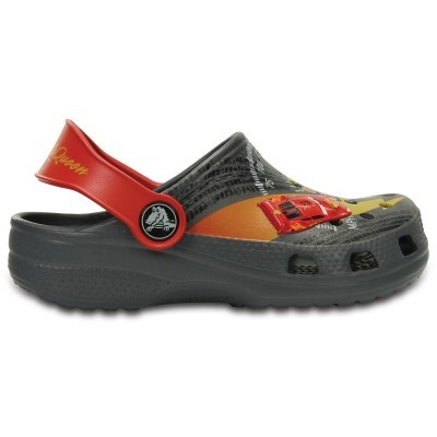 Crocs Classic McQueen Clog - Charcoal/True Red, C10/C11 (27-29)