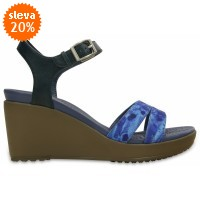 Crocs Leigh II Ankle Strap Graphic Wedge