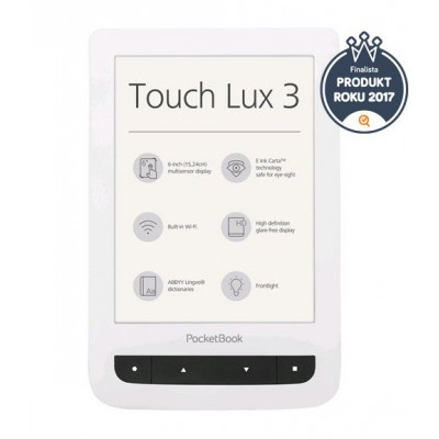 Čtečka knih PocketBook 626 Touch Lux 3, bilá