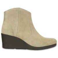 Crocs Leigh Suede Wedge Bootie