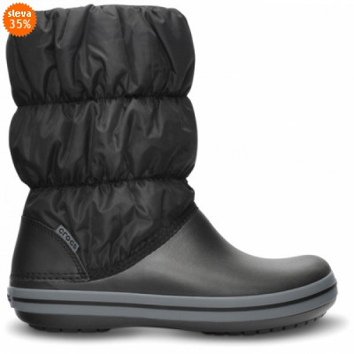 Crocs Winter Puff Boot Women - Black/Charcoal, W5 (34-35)