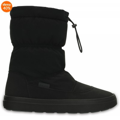 Crocs LodgePoint Pull-On Boot - Black, W8 (38-39)