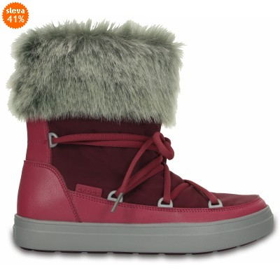 Crocs LodgePoint Lace Boot Nylon - Pomegranate, W7 (37-38)