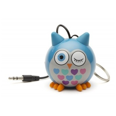 Přenosný reproduktor KitSound Mini Buddy Owl Blue