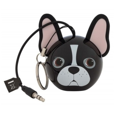 Přenosný reproduktor KitSound Mini Buddy French Bulldog