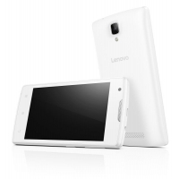 "Lenovo Smartphone A Single SIM/4,0"" TN/800x480/Quad-Core/1,3GHz/512MB/4GB/5Mpx/3G/Android 5.0/Bílý (PA490145CZ)"