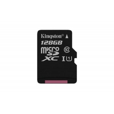 KINGSTON 128GB microSDXC Memory Card 45MB/10MBs- UHS-I class 10 Gen 2 - bez adaptéru