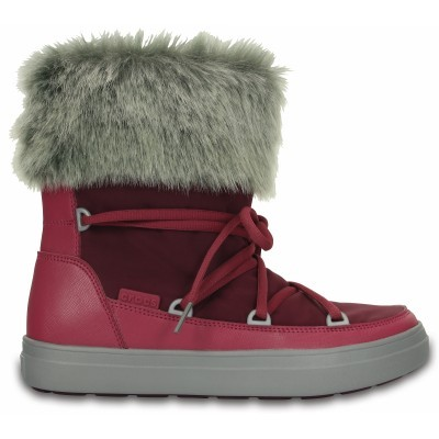 Crocs LodgePoint Lace Boot Nylon - Pomegranate, W6 (36-37)