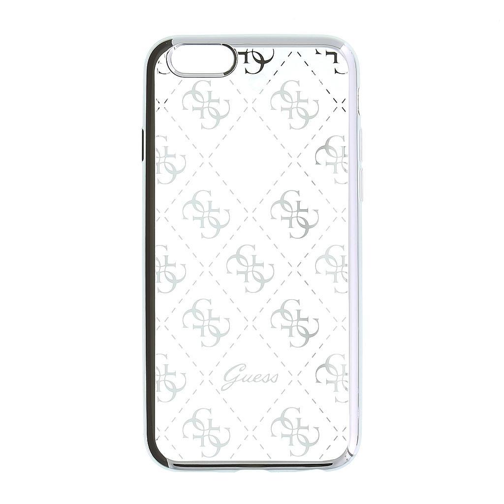 Zadní kryt Guess 4G TPU GUHCPSETR4GSI pro iPhone 5 5S SE - stříbrný df643e43962