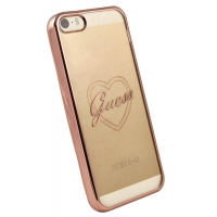 Zadní kryt Guess Signature Heart GUHCPSETRHRG pro iPhone 5/5S/SE