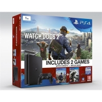 PS4 - Playstation 4 1TB Slim + 2hry: Watchdogs a Watchdogs 2