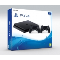 PS4 - Playstation 4 1TB Slim - 2x ovladač DUALSHOCK 4