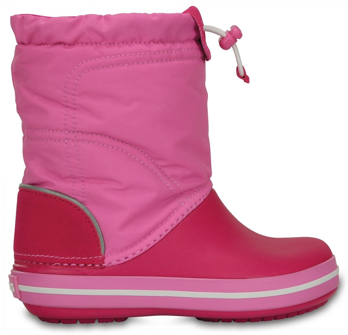 22df23e716a Dětské sněhule Crocs Crocband LodgePoint Boot Kids - Candy Pink ...
