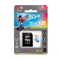Paměťová karta Silicon Power ELITE COLORFUL microSDXC, UHS-1, C10, 128GB + adaptér SD