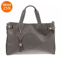 Armani Jeans Saffiano Leather East West Tote
