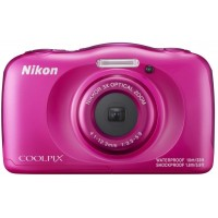 Nikon Coolpix W100 růžový, 13,2MPx,3xOZ,FHD Video