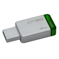 Trhák Kingston DT50 USB 3.1, 16GB - zelený