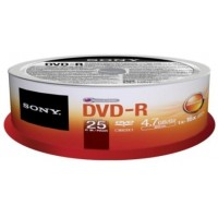 Média DVD-R SONY DMR-47SP,25ks pack, Spindl