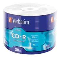 VERBATIM CD-R Verbatim DL 700MB 52x Extra Protection 50-spindl RETAIL