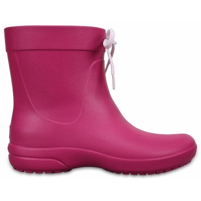 Crocs Freesail Shorty Rain Boots - Berry, W8 (38-39)