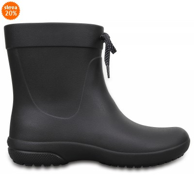 Crocs Freesail Shorty Rain Boots - Black, W8 (38-39)