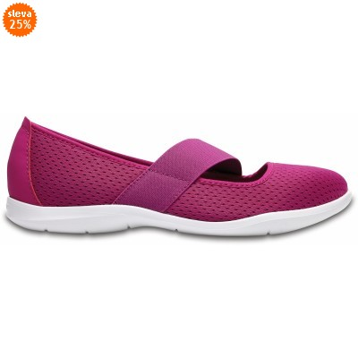 Crocs Swiftwater Flat - Vibrant Violet/White, W8 (38-39)