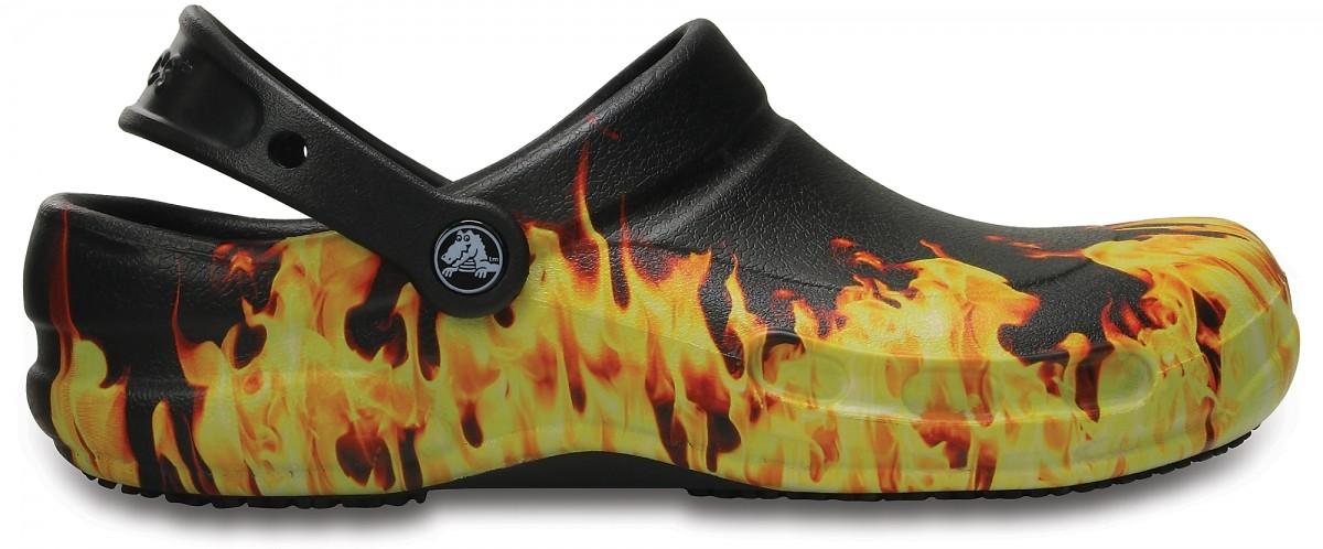 214dfe047d1 Pracovní boty (pantofle) Crocs Work Bistro Graphic - Black