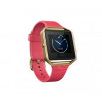 Fitbit Blaze,Tapered Pink, Gold, Small