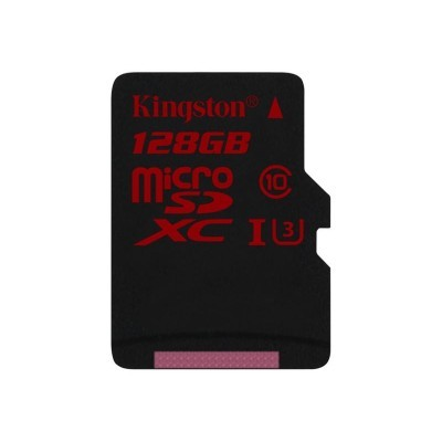 128GB microSDXC Kingston UHS-I Class U3 90MB/s read, 80MB/s write + bez adapteru