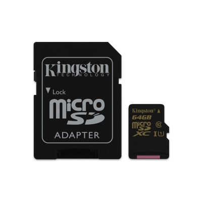 64GB microSDXC UHS-I Kingston 90R/45W class 10