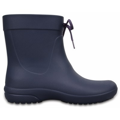 Crocs Freesail Shorty Rain Boots - Navy, W8 (38-39)