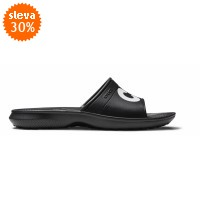 Crocs Classic Graphic Slide - Black/White, M5/W7 (37-38)