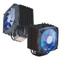 FSP/Fortron Chladič CPU Windale 6 Cooler AC601, 6 Heat-Pipe, 240W TPD, 120 mm PWM blue LED